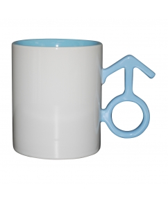Mok Male Blue 250 ml. bedrukken