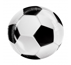 Set 6 Bordjes Football (23 cm) bedrukken