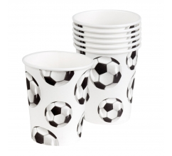 Set 6 Bekertjes Football (25 cl) bedrukken