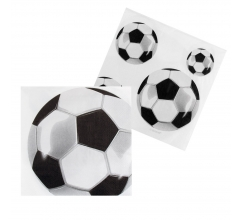 Set 12 Servetten Football (33 x 33 cm) bedrukken