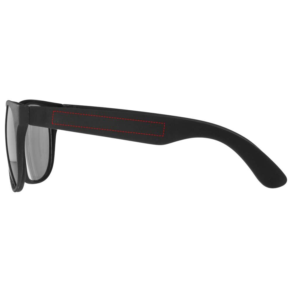 137483f16b4d31 Retro zonnebril met gekleurde pootjes (UV400) - onbedrukte en ...
